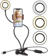 Anillo de Luz profesional Ubeesize™ con soporte para smartphone para hacer streaming/maquillaje en vivo