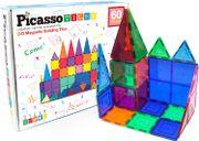 Set de juego de 60 unidades PicassoTiles magnéticos trasnparentes. Bloques de construcción 3D Creatividad más allá de la imaginación, inspirador, recreativo, educativo, convencional