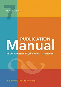 portada Publication Manual of the American Psychological Association: 7th Edition, 2020 Copyright (libro en Inglés)