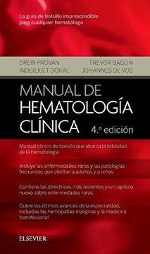 portada Manual de hematología clínica - 4ª edición