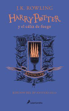 portada Harry Potter y el cáliz de fuego edición 20° aniversario. Ravenclaw
