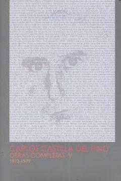 portada Carlos Castilla del Pino. Obras completas V (1973-1979): 5