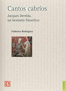 portada Cantos Cabrios. Jacques Derrida un Bestiario Filosofico