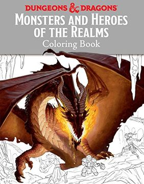 portada Monsters and Heroes of the Realms: A Dungeons & Dragons Coloring Book (Ologies) (libro en Inglés)