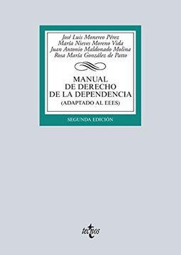 portada Manual De Derecho De La Dependencia. Adaptado Al Eees (derecho - Biblioteca Universitaria De Editorial Tecnos)