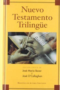 portada Nuevo Testamento Trilingüe (libro en Español, Latín, Griego)