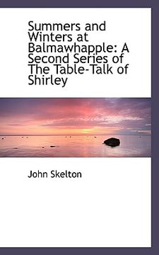 portada summers and winters at balmawhapple: a second series of the table-talk of shirley