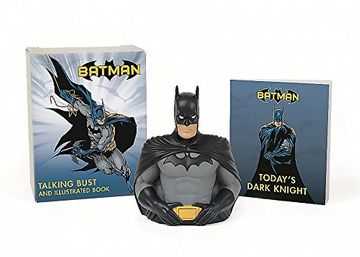 portada Batman. Talking Bust and Illustrated Book (rp Minis) (libro en Inglés)