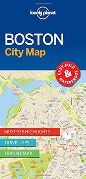 portada Lonely Planet Boston City Map (Travel Guide)