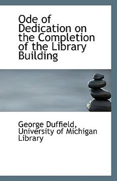 portada ode of dedication on the completion of the library building