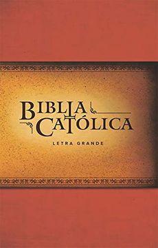 portada La Biblia Católica: Edición Letra Grande. Rústica, Roja