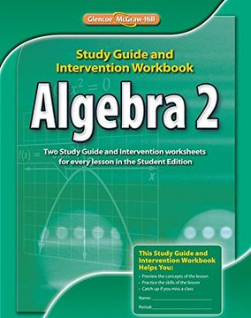 portada algebra 2, study guide & intervention workbook