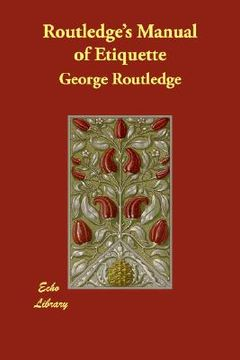 portada routledge's manual of etiquette
