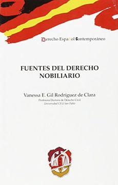 portada Fuentes del Derecho nobiliario (Derecho Español Contemporáneo)