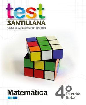 portada Test 4º Basico Matematica. Talleres Evaluacion Simce (Santillana)