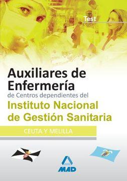 portada Auxiliares de Enfermería de Centros Dependientes del Instituto Nacional de Gestión Sanitaria. Test