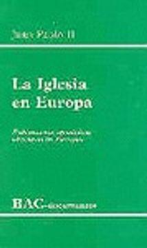 portada iglesia en europa, la. (bac)