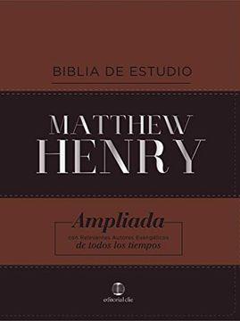 portada Biblia de Estudio Matthew Henry (Leathersoft Cl‡Sica)