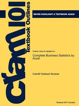 portada studyguide for complete business statistics by amir d. aczel, isbn 9780077239695