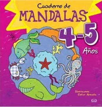 portada Mandalas Cuaderno T. Violeta 4-5 Años