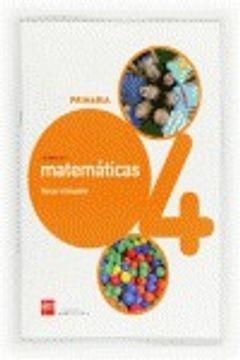 portada Cuaderno de matemáticas. 4 Primaria, 3 Trimestre. Conecta 2.0