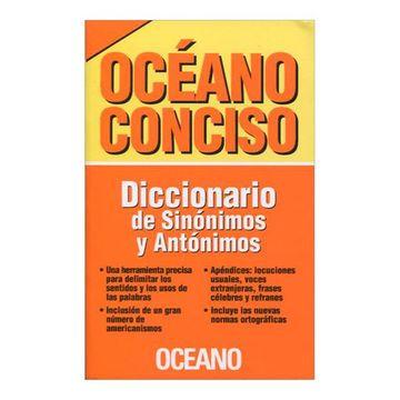 portada Oceano Conciso Diccionario de Sinonimos y Antonimos Nueva Edicion