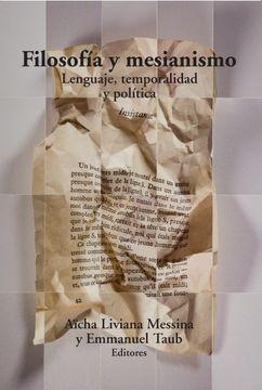 portada Filosofia y Mesianismo