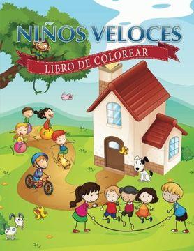 portada Ninos Veloces: Libro de Colorear