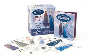 portada Frozen: Dress me up Elsa and Anna: A Magnetic kit (Miniature Editions) (libro en inglés)