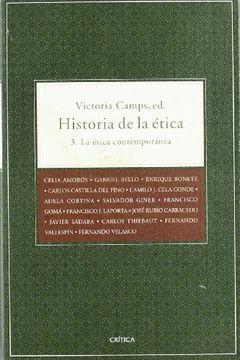 portada Historia de la Etica: La Etica Contemporaneos