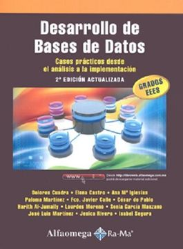 portada Desarrollo de Bases de Datos. Casos Prácticos Desde el Análisis a la Implementación 2ª Edición Actualizada.