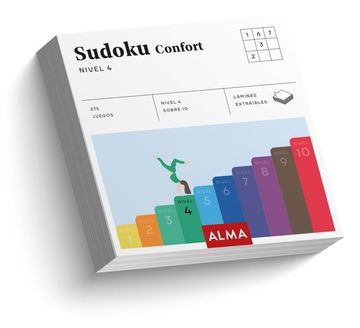 portada Sudoku Confort. Nivel 4 (Cuadrados de Diversión)