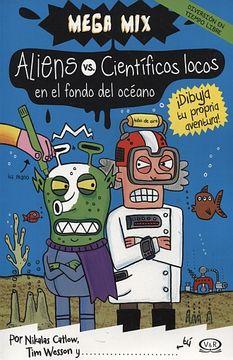portada Aliens vs Cientificos Locos en el Fondo del Oceano Dibu  ja tu Propia Aventura
