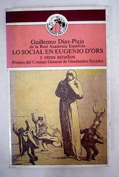 portada Lo social en Eugenio d' Ors y otros estudios