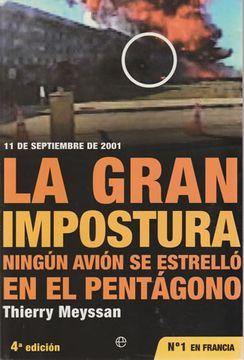 portada 11 de Septiembre de 2001. La gran impostura. Ningún avión se estrelló en el pentágono