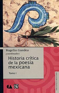 portada Historia Critica de la Poesia Mexicana. Tomo i.