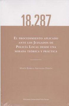 portada 18.287 El Procedimiento Aplicado Ante Los Juzgados De Policia Local