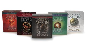 portada Song of ice and Fire Audiobook Bundle: A Game of Thrones (Hbo Tie-In), a Clash of Kings (Hbo Tie-In), a Storm of Swords a Feast for Crows, and a Dance (libro en Inglés) (Audiolibro)