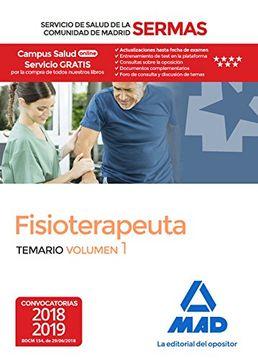 portada Fisioterapeuta del Servicio de Salud de la Comunidad de Madrid. Temario Volumen 1