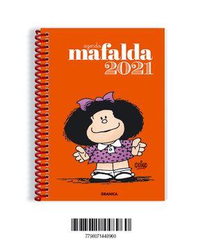 portada Agenda 2021 Mafalda [Tapa Naranja] [Dos Hojas por Semana]