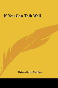 portada if you can talk well