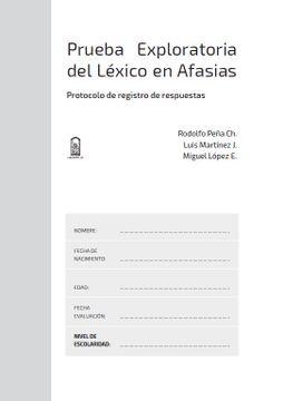 portada Prueba Exploratoria del Léxico en Afasias. Protocolo de registro de respuestas