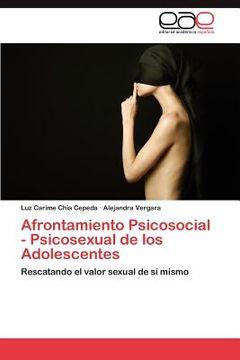 portada afrontamiento psicosocial - psicosexual de los adolescentes