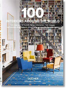 portada 100 Interiors Around the World (libro en Inglés)