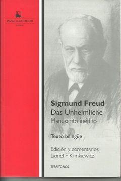 portada Das Unheimliche - Manuscrito Inedito (Bilingüe)
