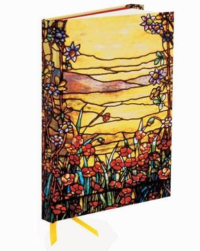 portada Tiffany Red Flowers and a Stream (Foiled Journal) (Flame Tree Notebooks)