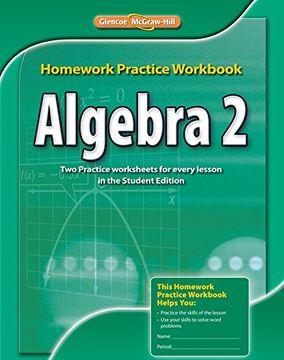 portada Algebra 2 Homework Practice Workbook (libro en Inglés)