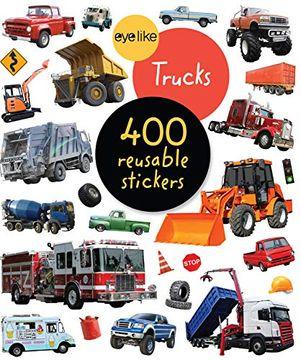 portada Eyelike Stickers: Trucks (libro en Inglés)