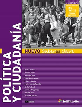 portada Politica y Ciudadania Santillana Nuevo Saberes Clave