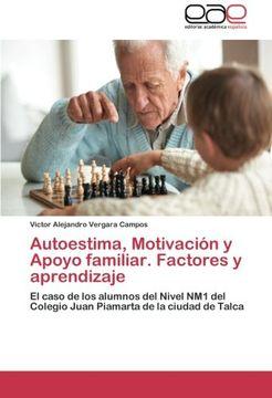 portada Autoestima, Motivacion y Apoyo Familiar. Factores y Aprendizaje